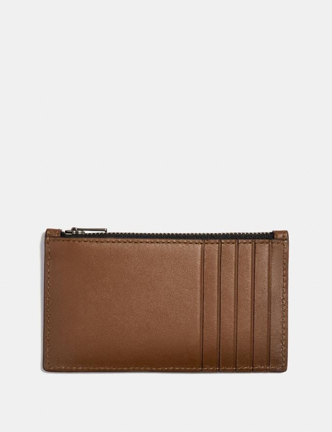 Coach Zip Card Case Saddle  Alternate View 1