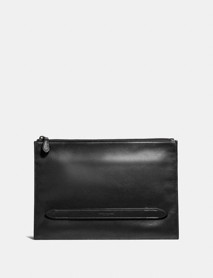 Coach Manhattan Pouch Black Men Accessories Lifestyle