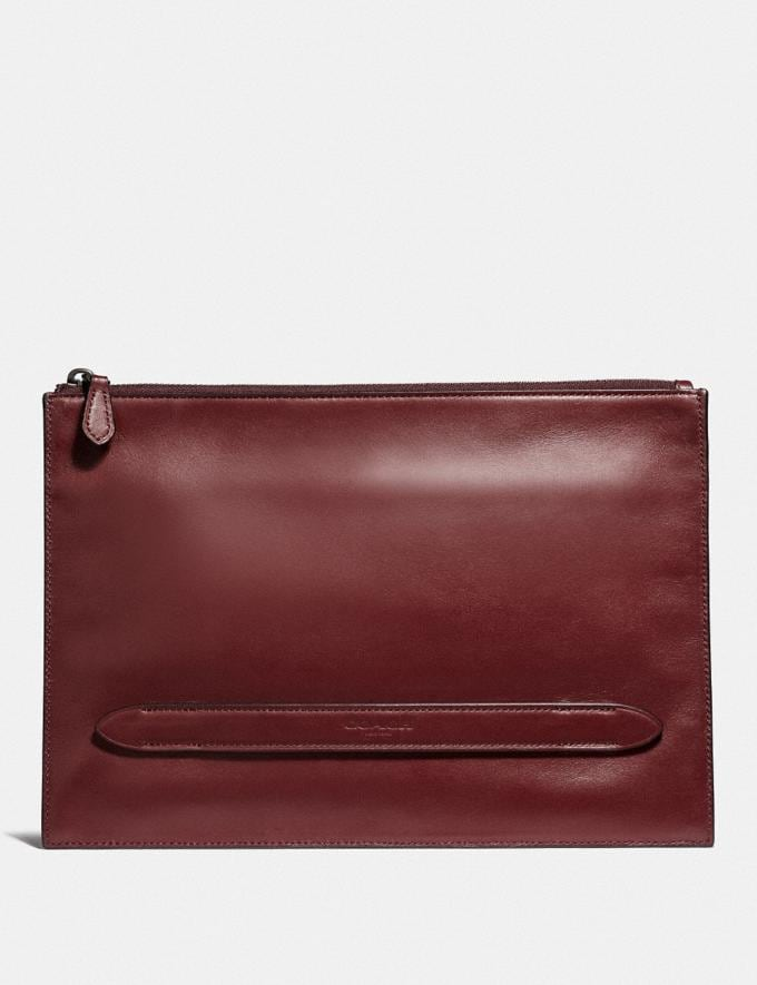 Coach Manhattan Pouch Red Currant New Featured Lunar New Year