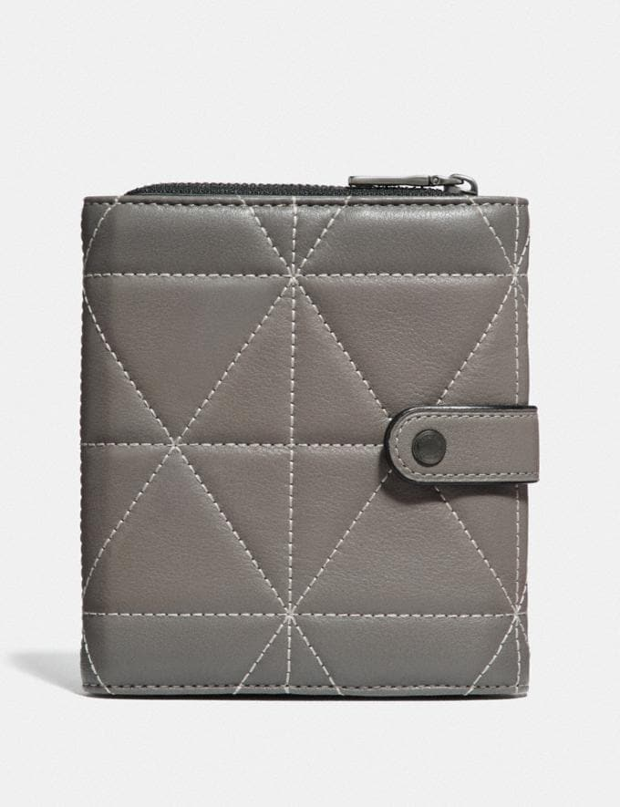 Coach Cord Organizer With Quilting Heather Grey/Black/Nickel Gifts For Him Valentine's Gifts