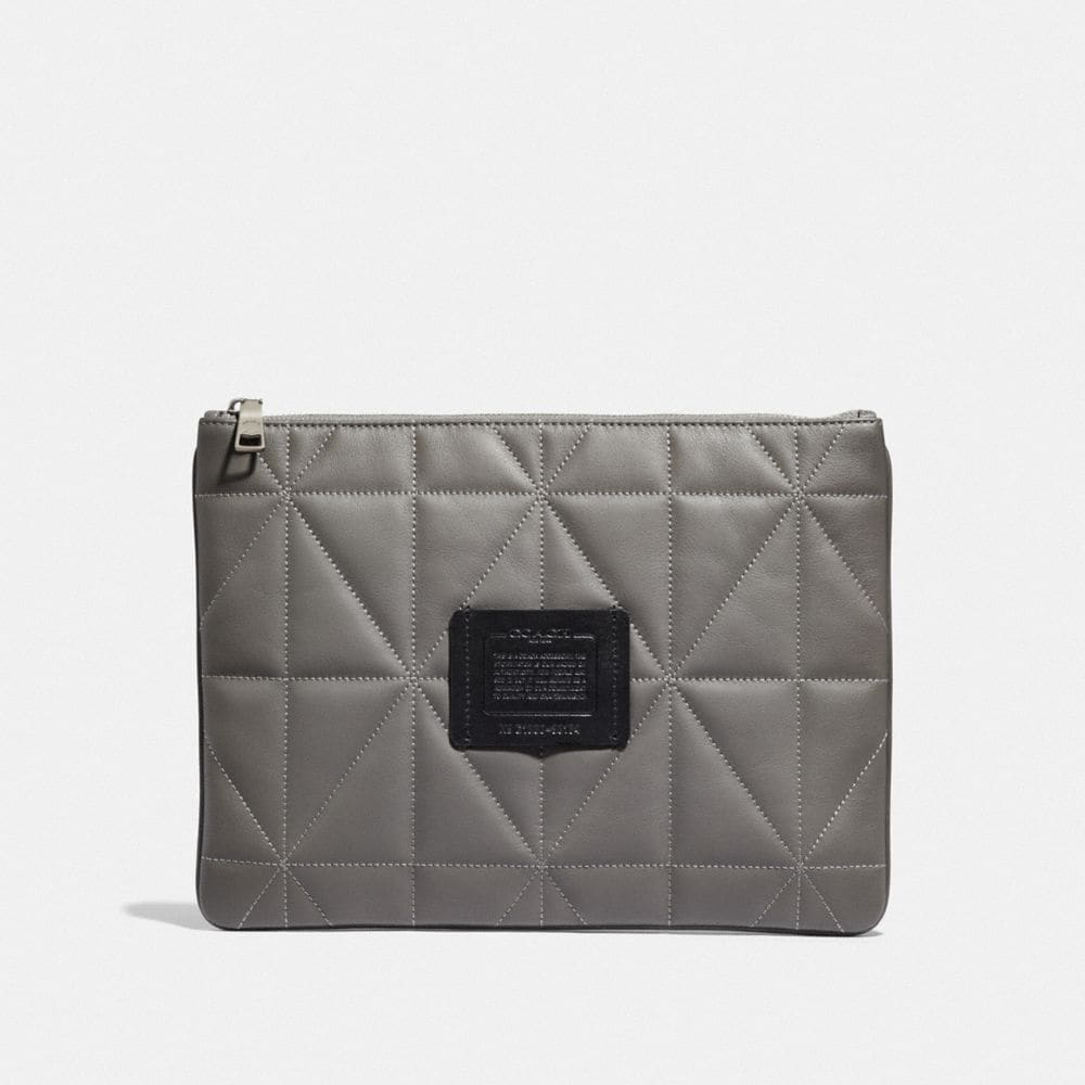 Coach Large Multifunctional Pouch With Quilting