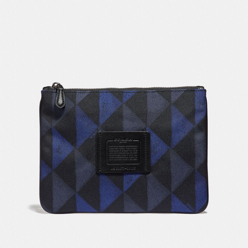 Coach Multifunctional Pouch With Geo Print