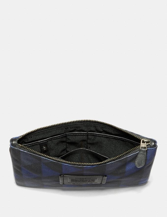 Coach Multifunctional Pouch With Geo Print Black/Denim Men Accessories Tech & Travel Alternate View 1