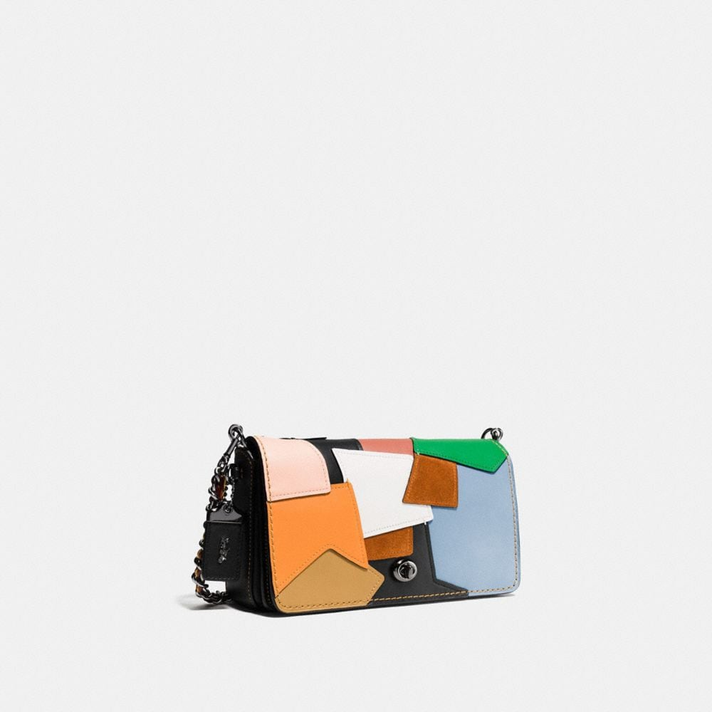 DINKY CROSSBODY IN PATCHWORK LEATHER - Alternate View A2
