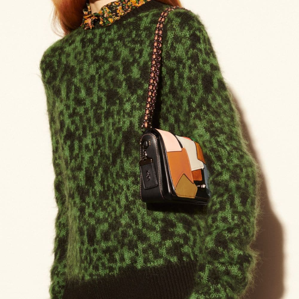 Dinky Crossbody in Patchwork Leather - Alternate View A4