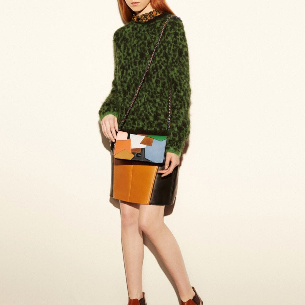 Dinky Crossbody in Patchwork Leather - Alternate View A5