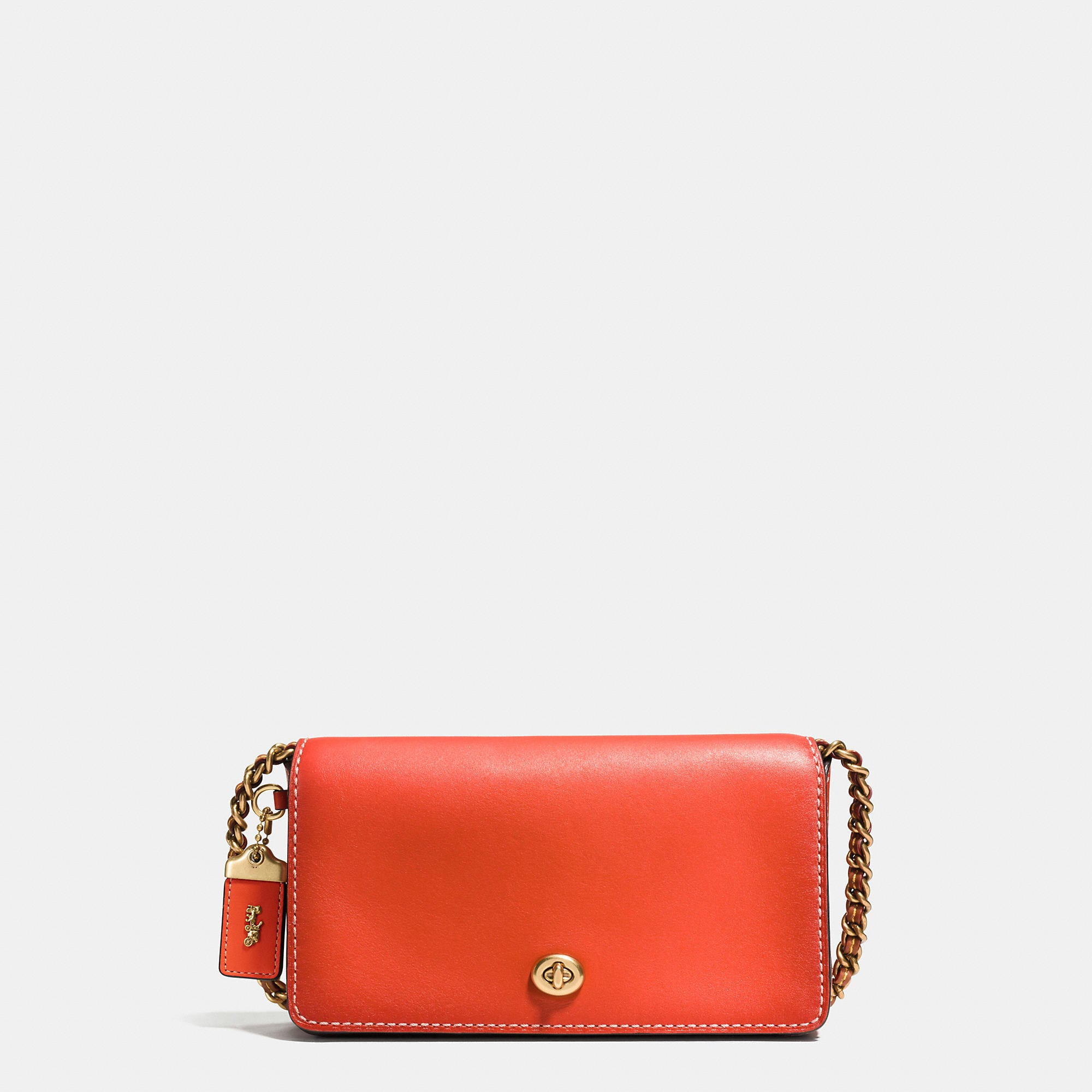 Coach Dinky Crossbody In Burnished Glovetanned Leather