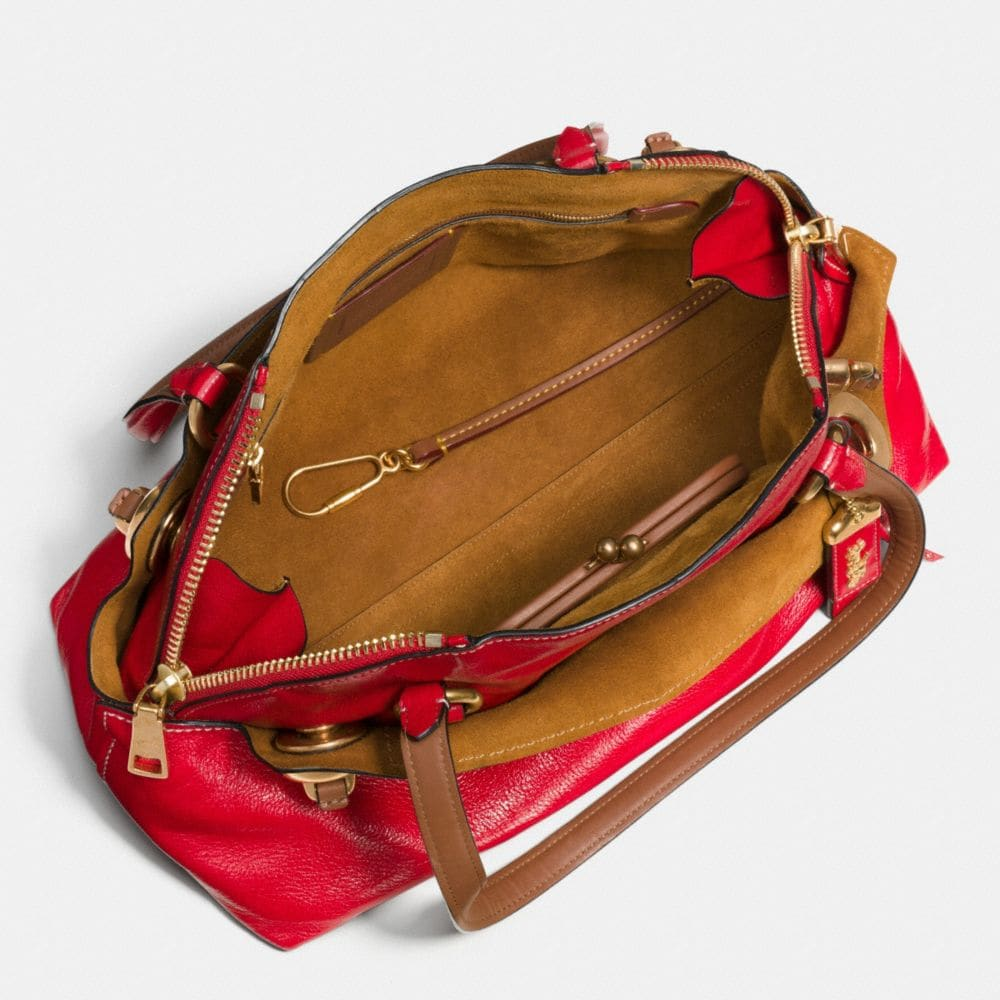OUTLAW SATCHEL IN POLISHED GRAIN LEATHER - Autres affichages A3