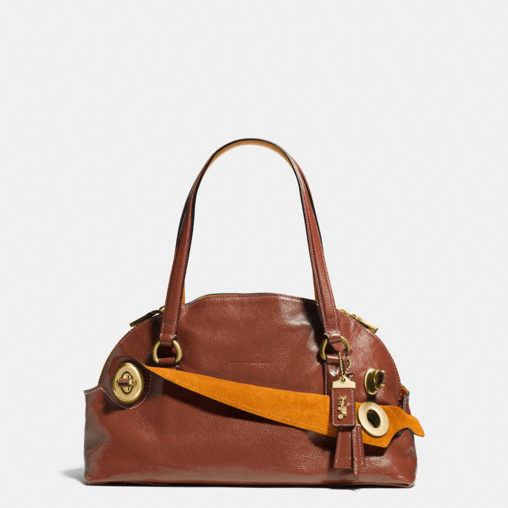 OUTLAW SATCHEL IN GRAIN LEATHER