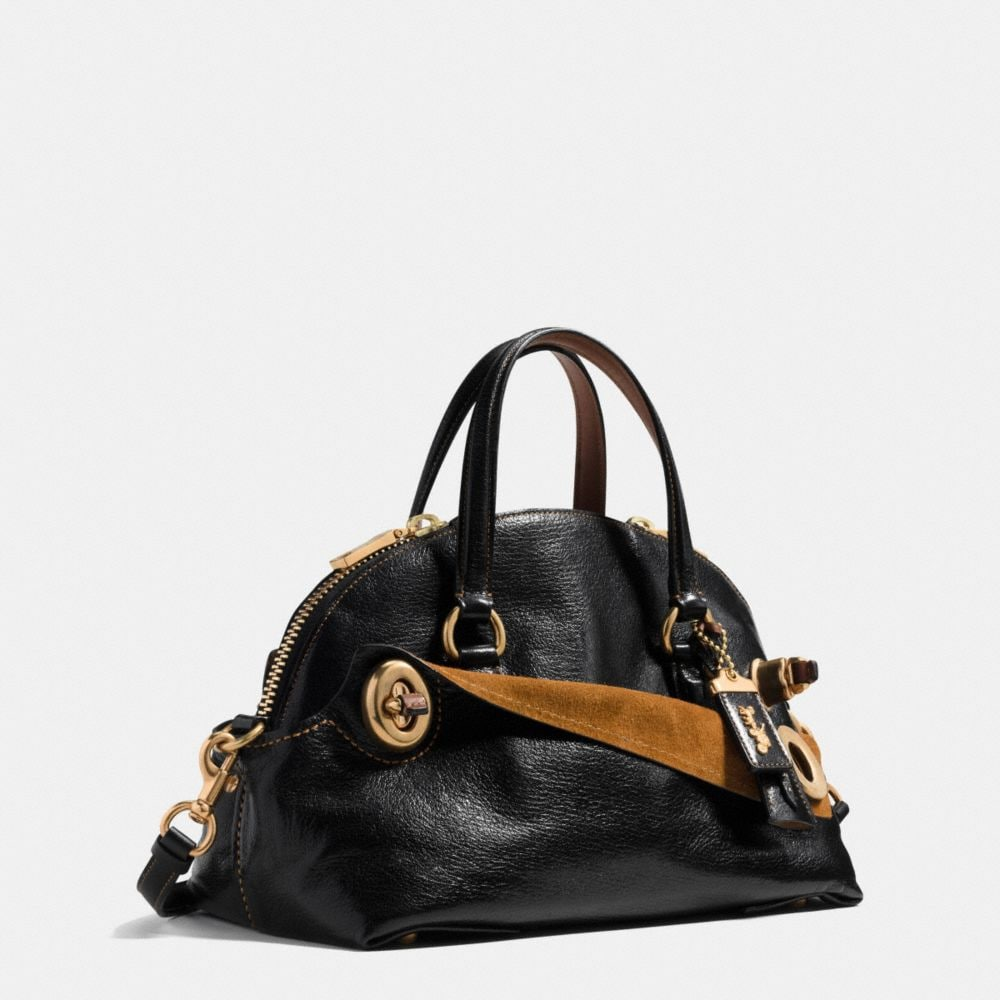 OUTLAW SATCHEL 36 IN POLISHED GRAIN LEATHER - Alternate View A2