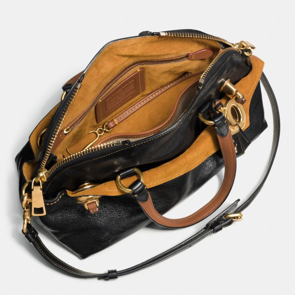 Outlaw Satchel 36 in Polished Grain Leather - Alternate View A3