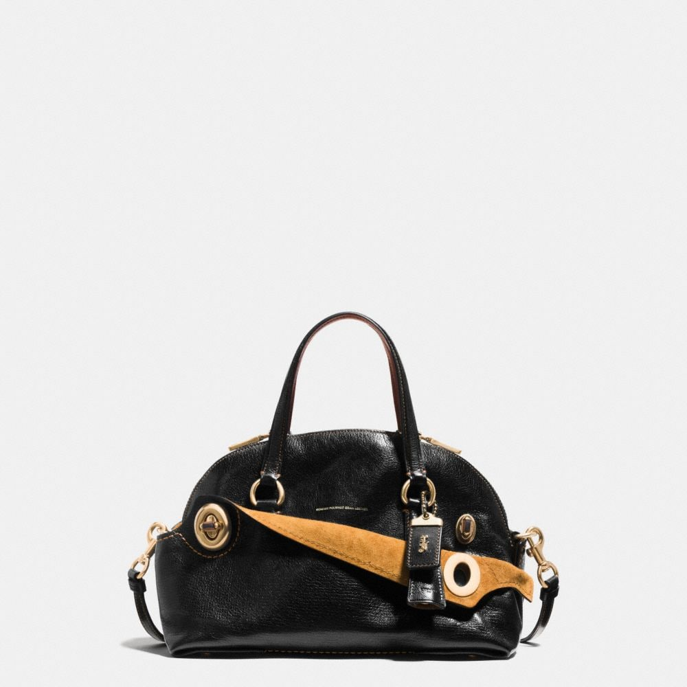 OUTLAW SATCHEL 36 IN POLISHED GRAIN LEATHER