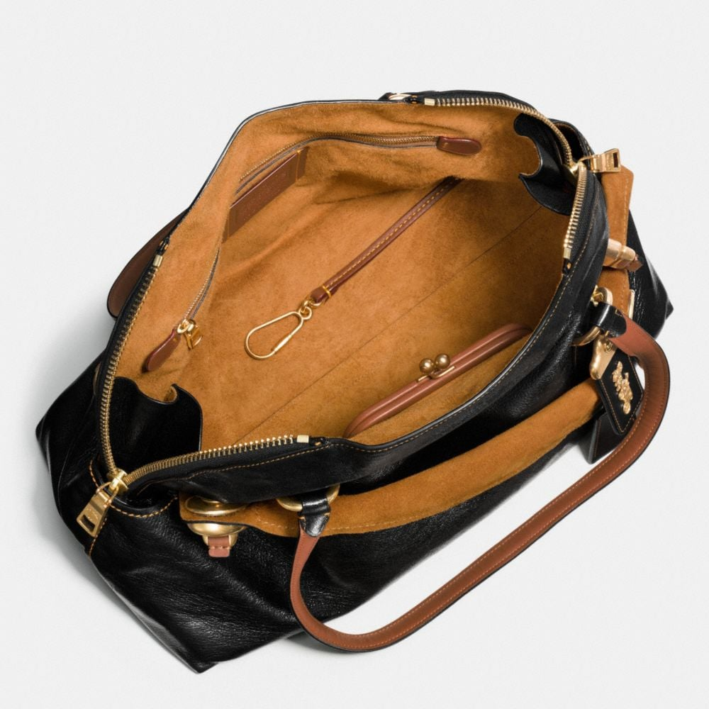 Outlaw Satchel 42 in Polished Grain Leather - Alternate View A3