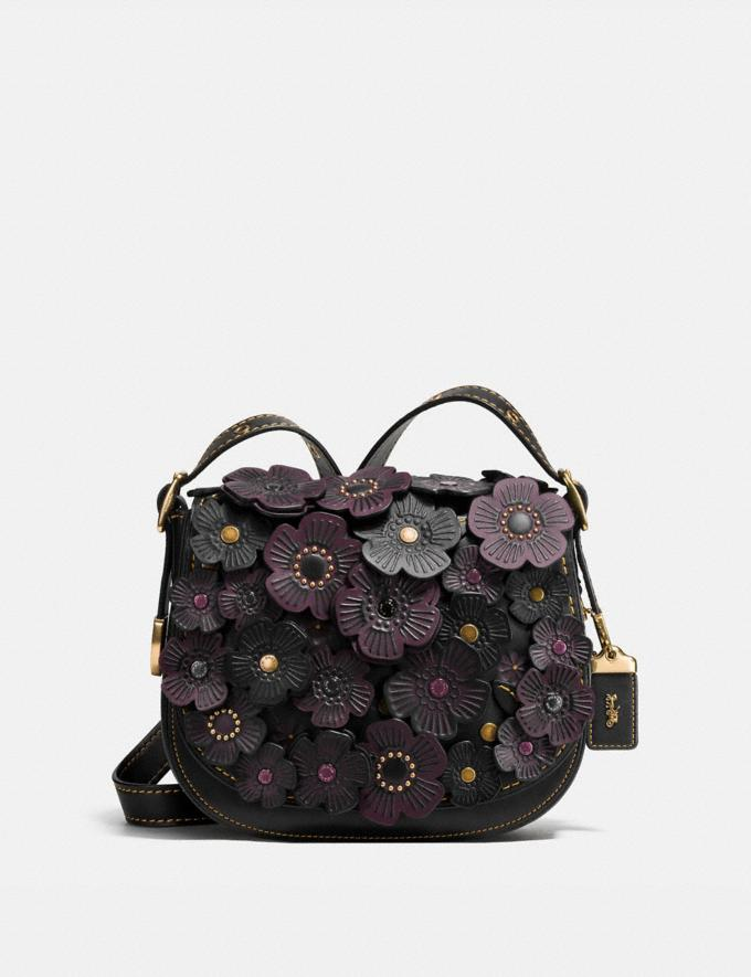 Coach Saddle 23 With Tea Rose Black/Dark Gunmetal