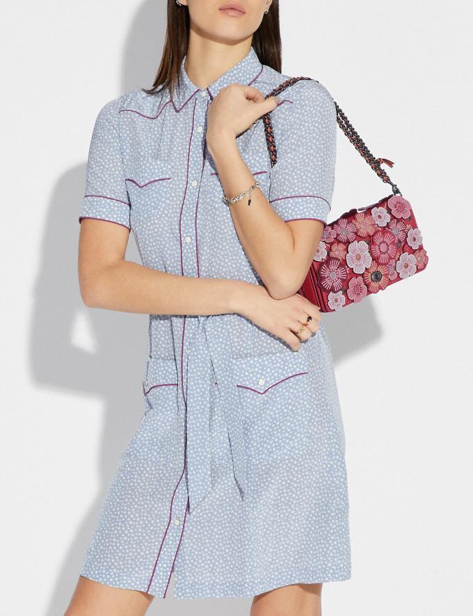 Coach Dinky With Tea Rose Brass/Chalk Women Bags Crossbody Bags Alternate View 4