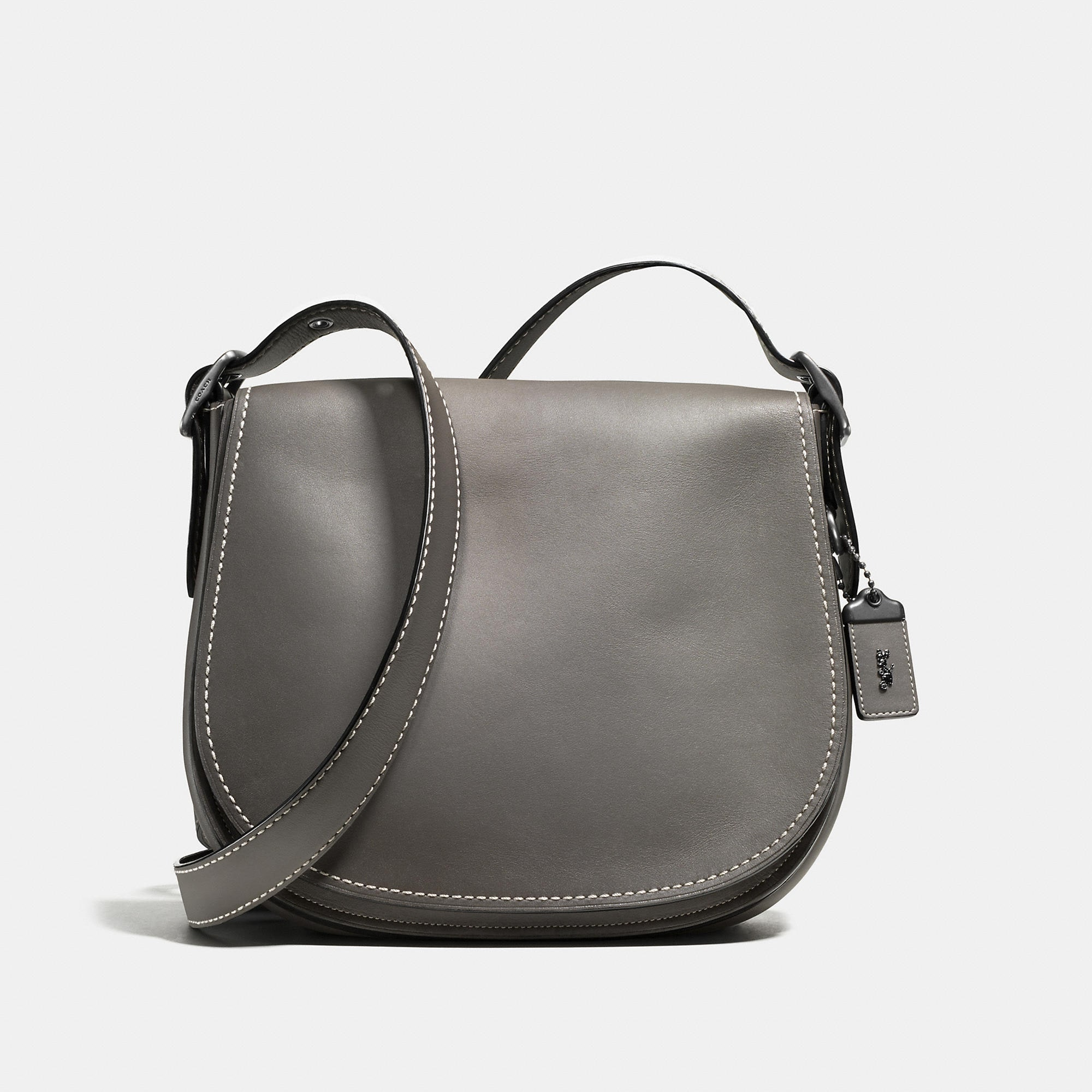 Coach Saddle Bag In Burnished Glovetanned Leather