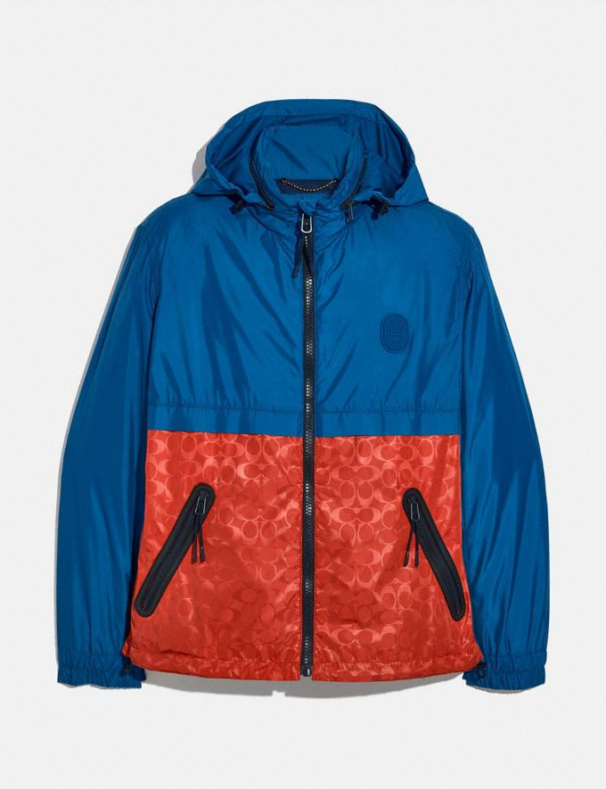 Coach Core Windbreaker Blue/Orange New Men's New Arrivals Collection