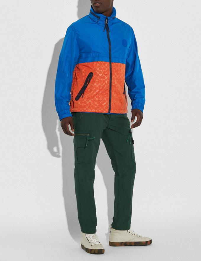 Coach Core Windbreaker Blue/Orange New Men's New Arrivals Collection Alternate View 1