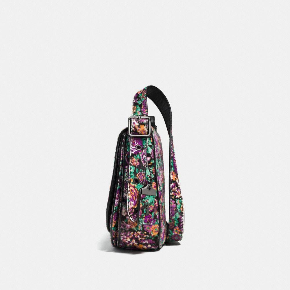 Saddle Bag 23 in Printed Haircalf - Autres affichages A2