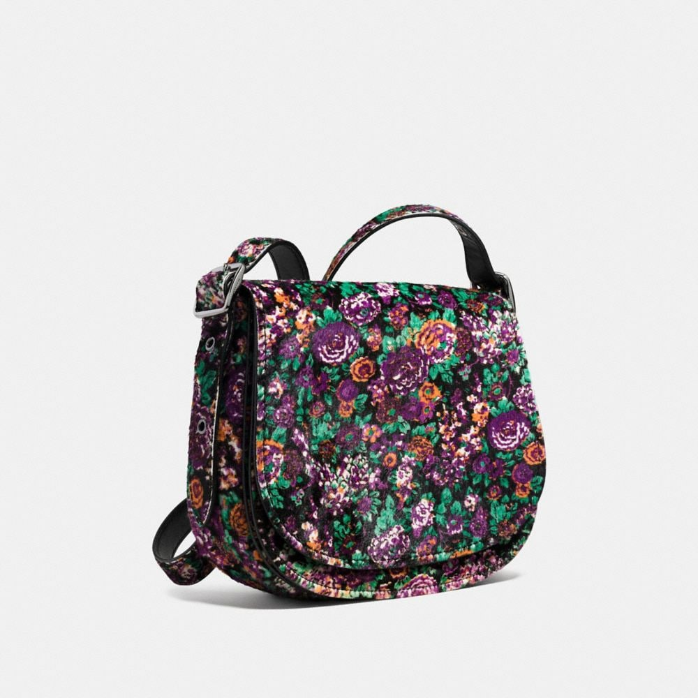 Saddle Bag 23 in Printed Haircalf - Autres affichages A3