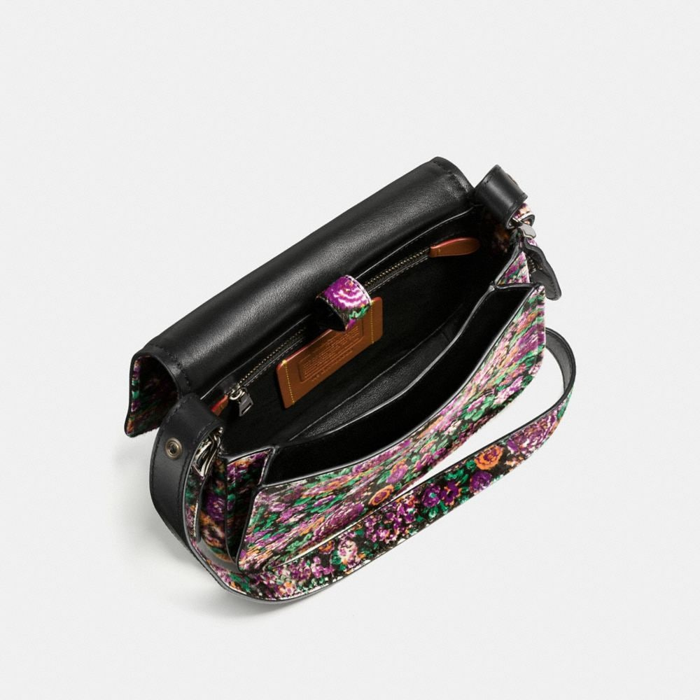 Saddle Bag 23 in Printed Haircalf - Autres affichages A4