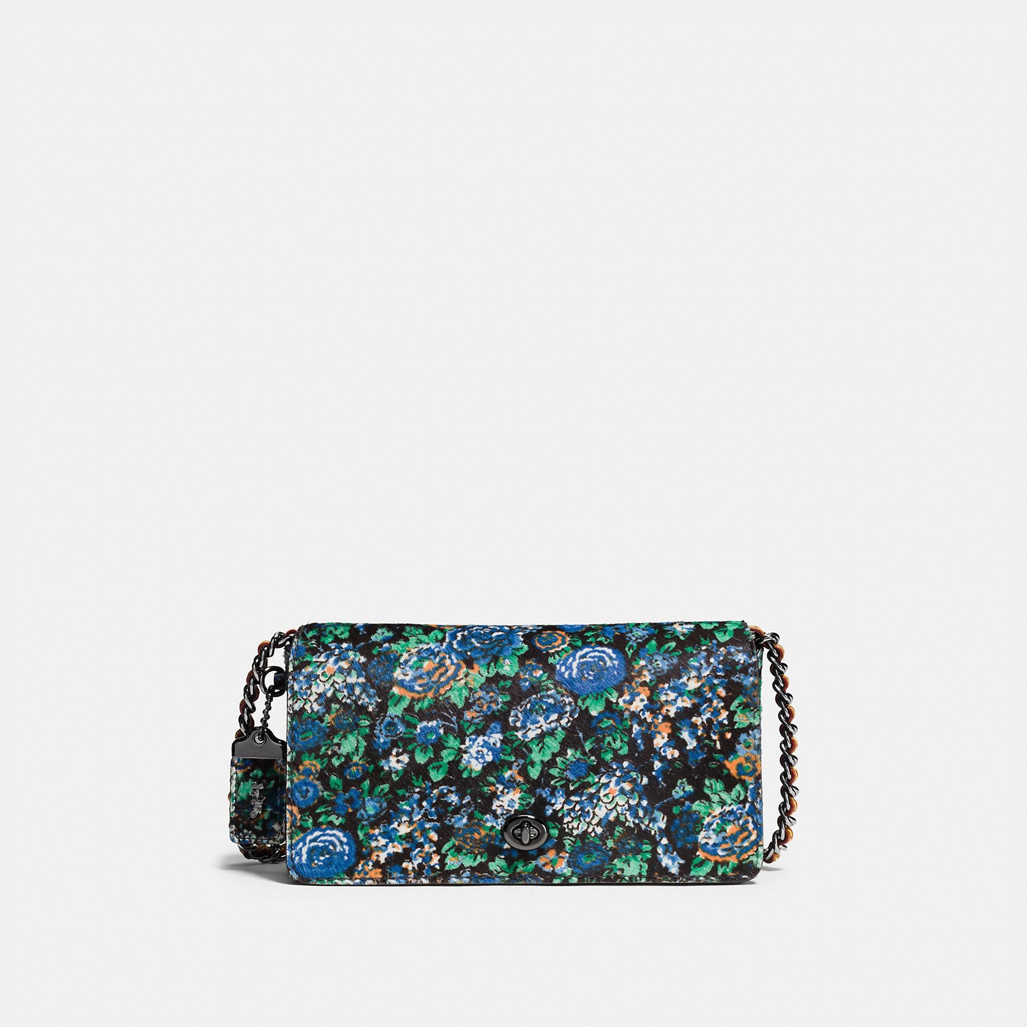 Coach Dinky Crossbody In Printed Haircalf