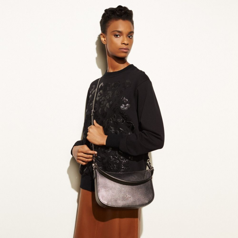 CHELSEA CROSSBODY IN POLISHED PEBBLE LEATHER - Alternate View