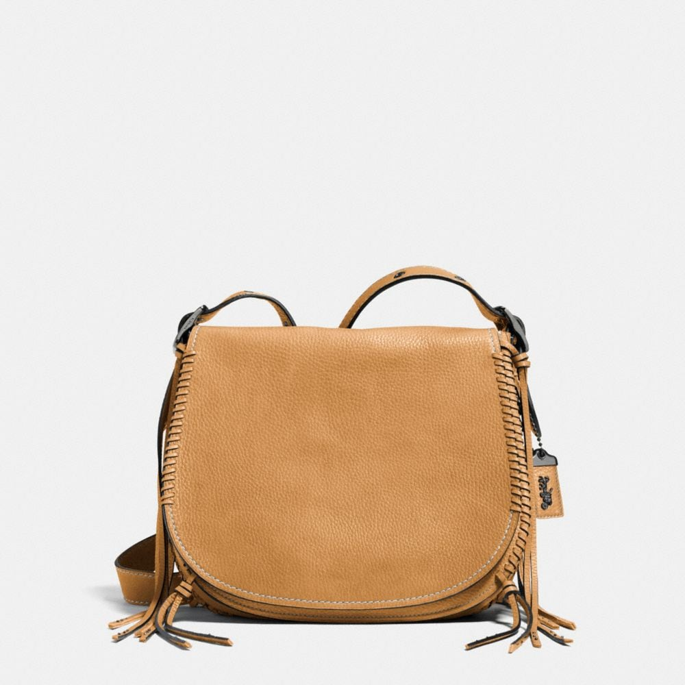 designer coach bags z1dh  Whiplash Saddle Bag in Leather