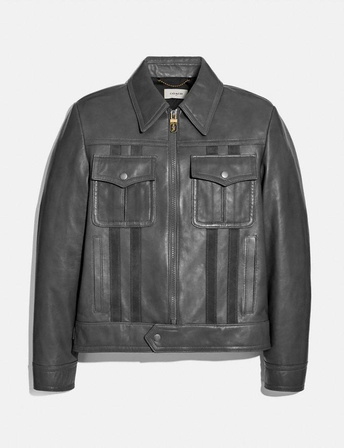 Coach Leather Blouson Graphite Men Ready-to-Wear Coats & Jackets