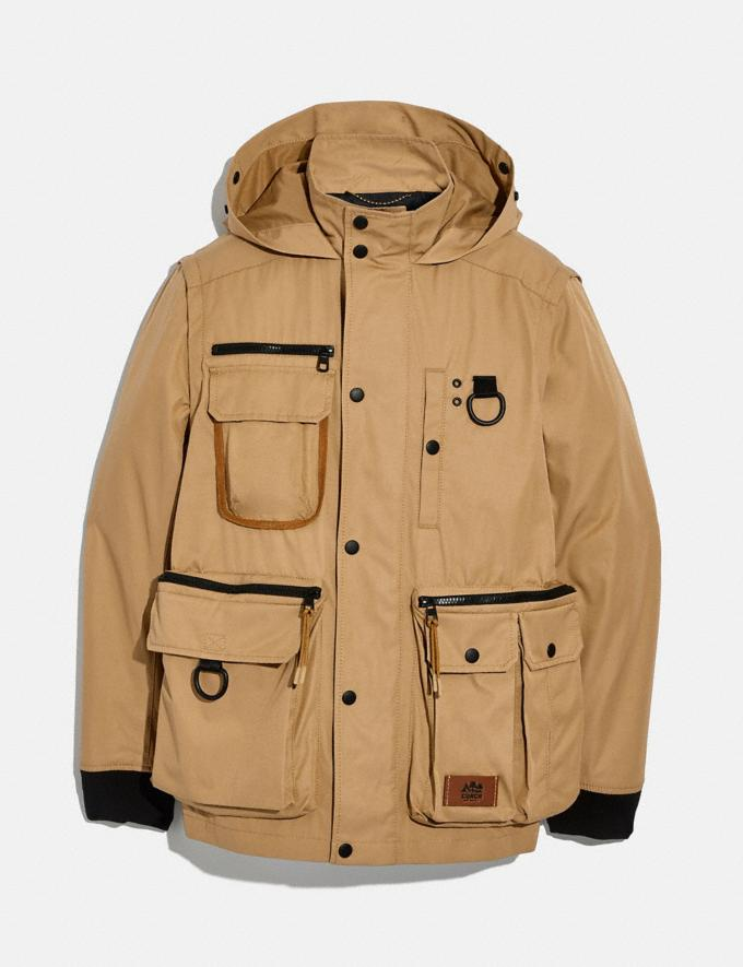 Coach Utility Jacket Khaki Men Ready-to-Wear Coats & Jackets