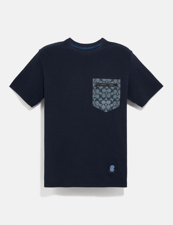 Coach Signature Essential T-Shirt Navy/Chambray