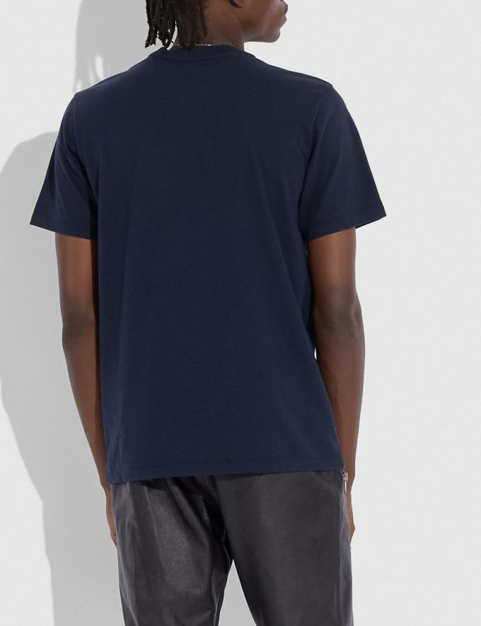 Coach Signature Essential T-Shirt Navy/Chambray  Alternate View 2