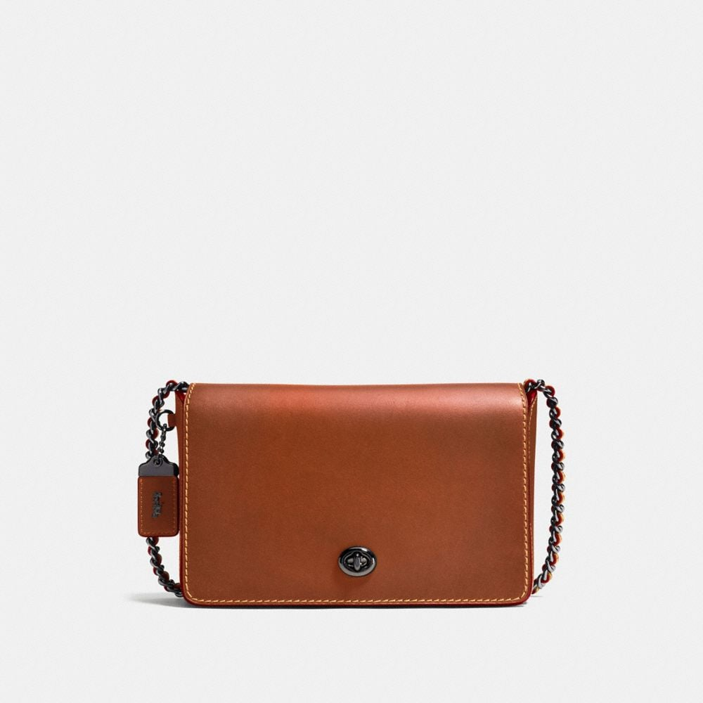 DINKY CROSSBODY 24 IN BURNISHED GLOVETANNED LEATHER