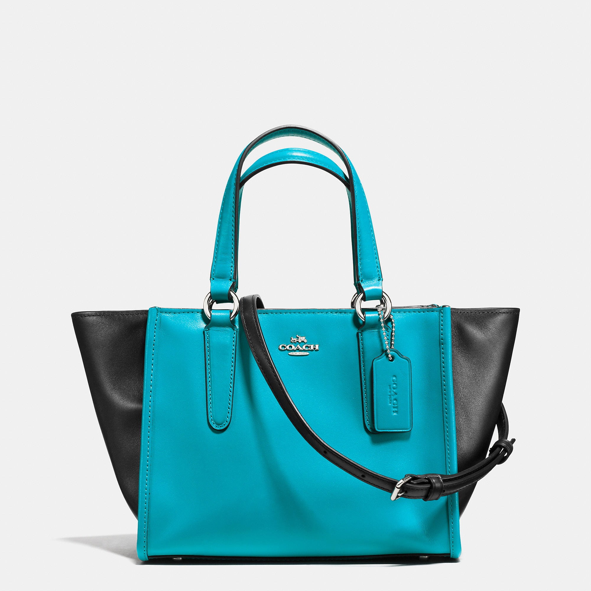 Coach Mini Crosby Carryall in Colorblock Leather