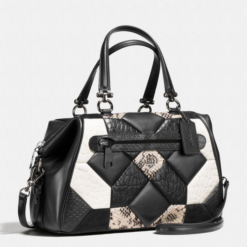 Coach Canyon Quilt Primrose Satchel in Exotic Embossed Leather Alternate View 2