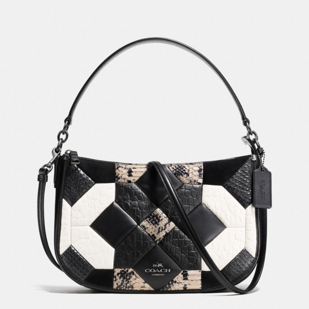 CANYON QUILT CHELSEA CROSSBODY IN EXOTIC EMBOSSED LEATHER