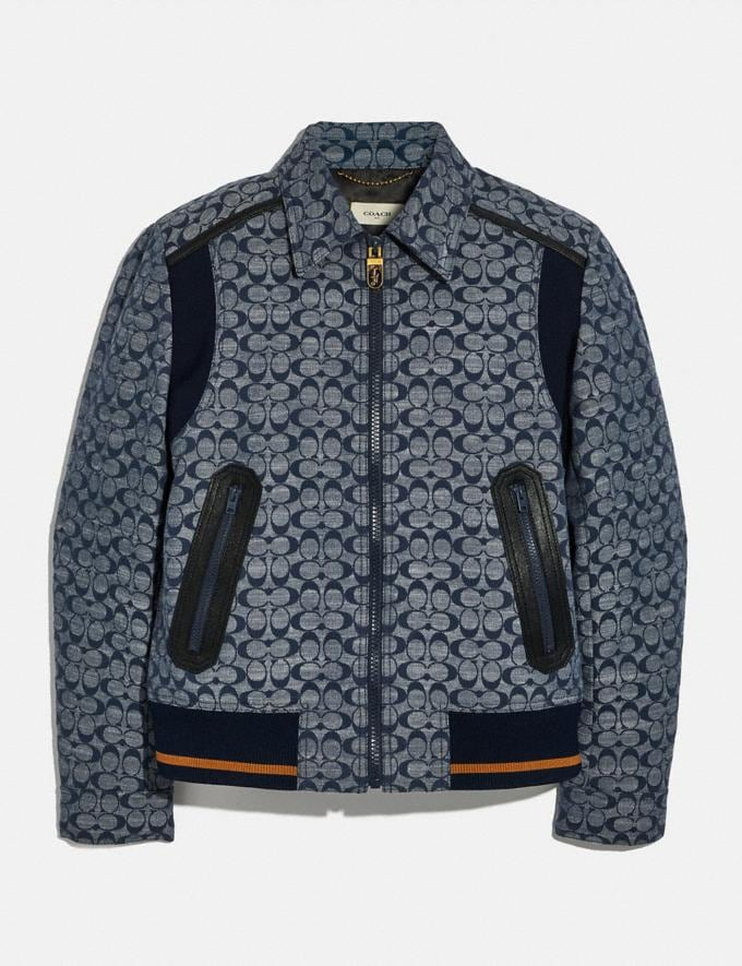 Coach Signature Chambray Ribbed Blouson Chambray Signature Men Ready-to-Wear Coats & Jackets
