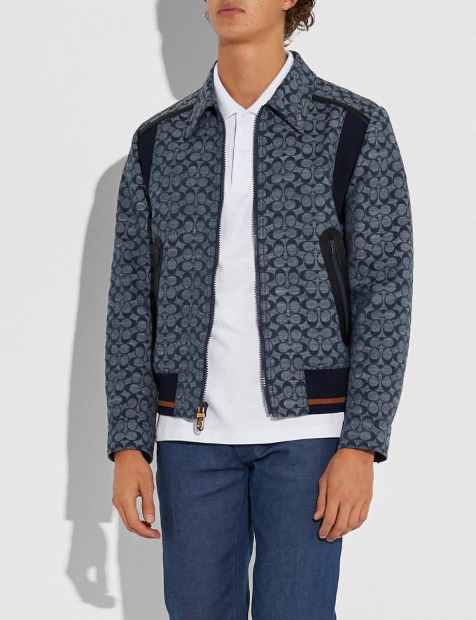 Coach Signature Chambray Ribbed Blouson Chambray Signature Men Ready-to-Wear Coats & Jackets Alternate View 1