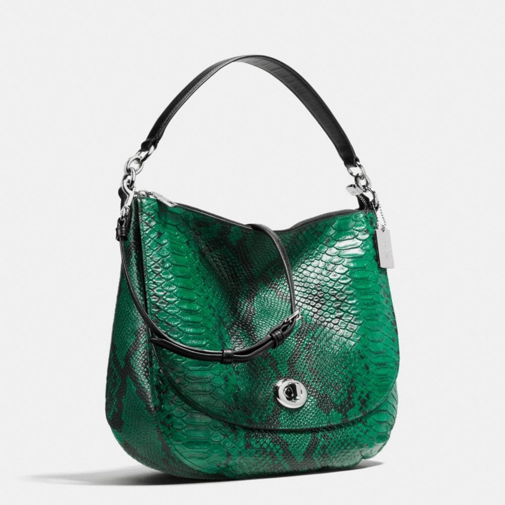 Turnlock Hobo in Snake-Embossed Leather - Alternate View A2