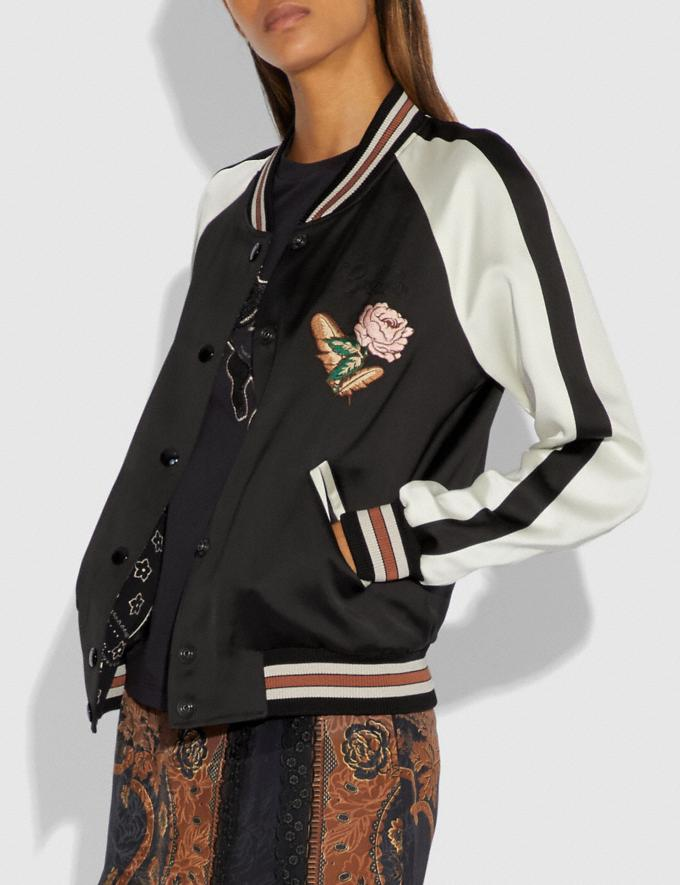 Coach Reversible Varsity Jacket Black  Alternate View 1