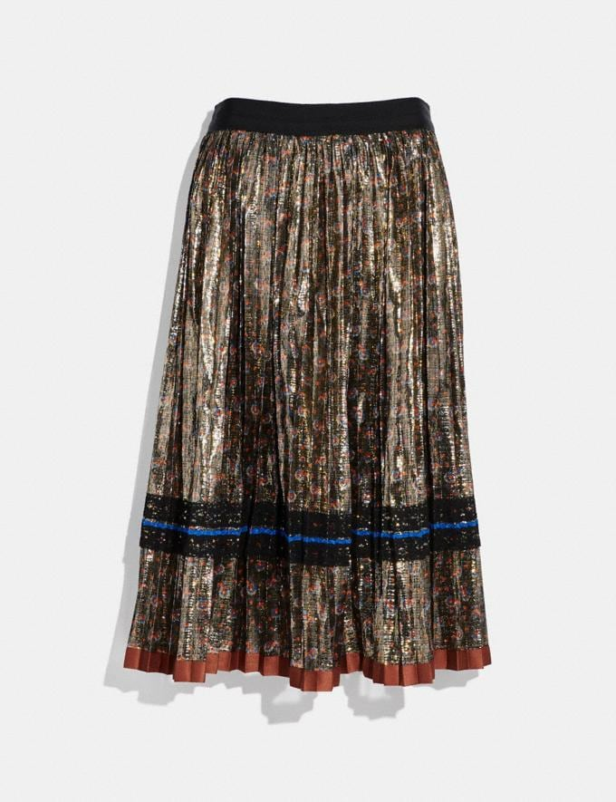 Coach Daisy Print Pleated Skirt Metal