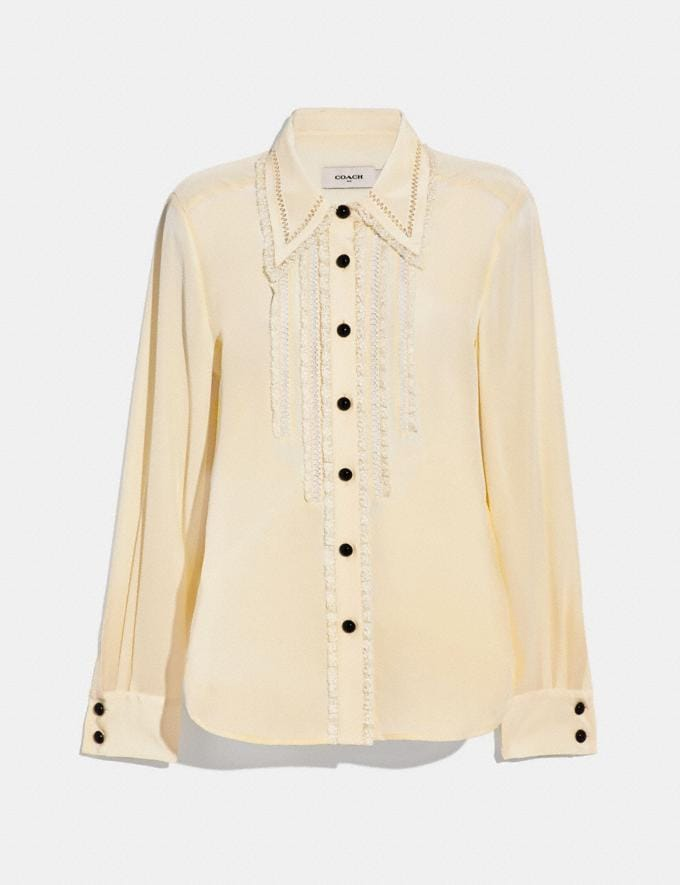 Coach Ruffle Detail Shirt Cream