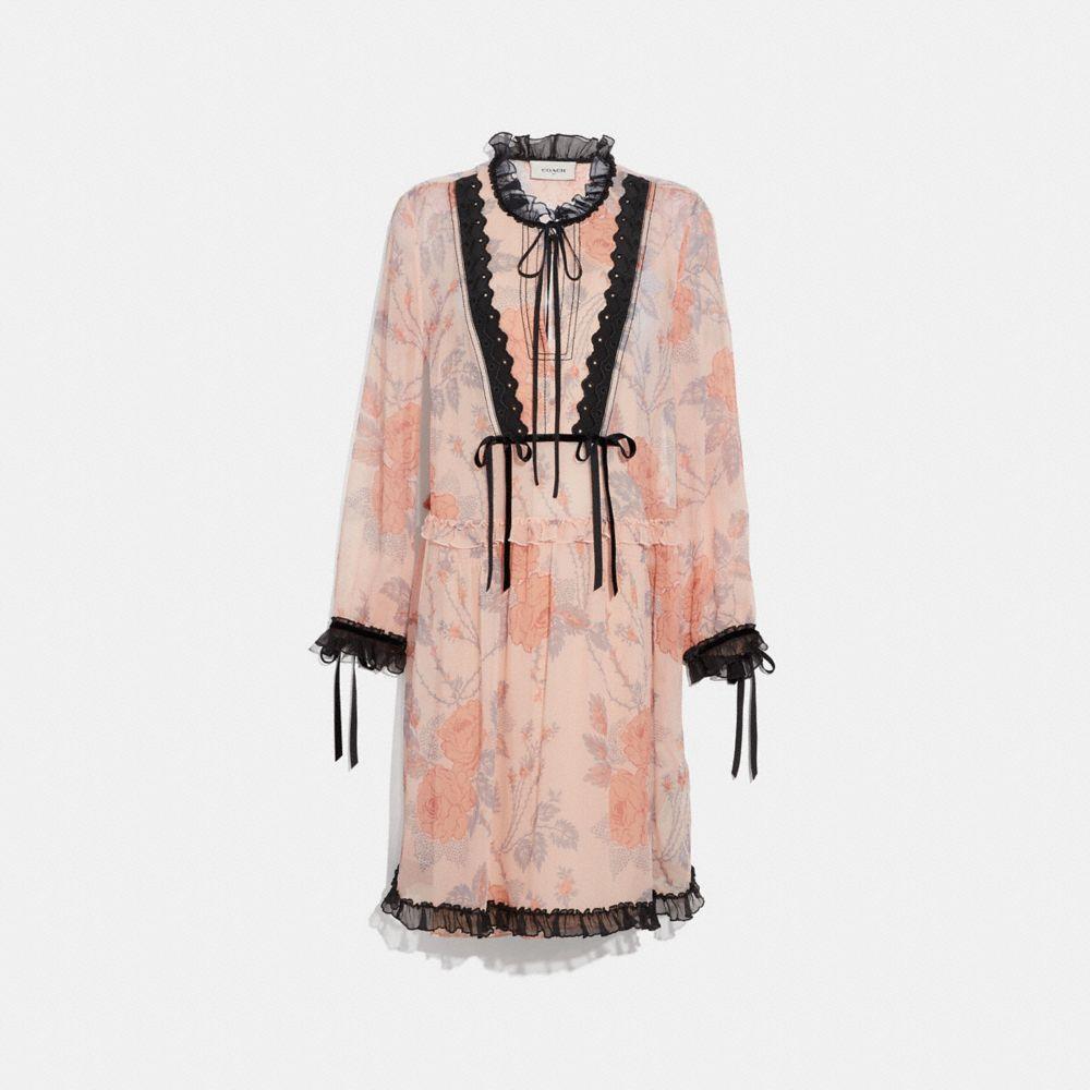 Coach Rose Print Dress