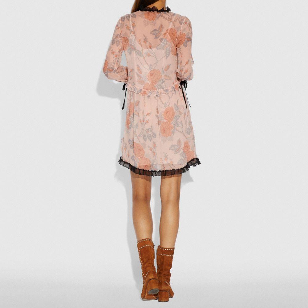 Coach Rose Print Dress Alternate View 2