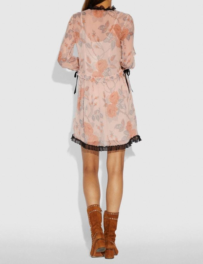 Coach Rose Print Dress Pink  Alternate View 2