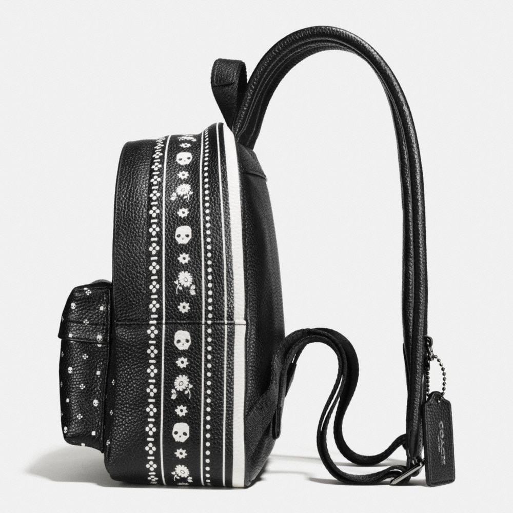Mini Campus Backpack in Bandana Print Leather - Alternate View A1
