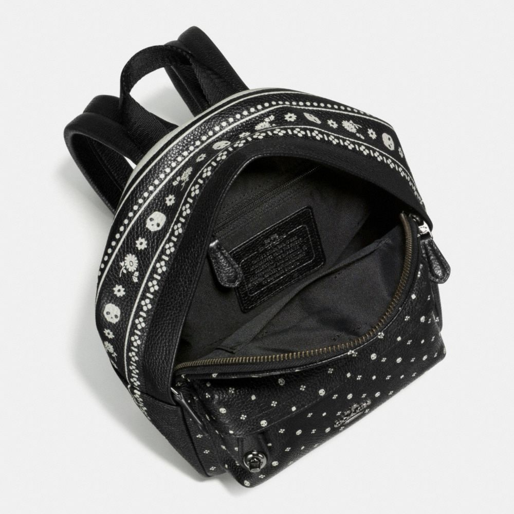 Mini Campus Backpack in Bandana Print Leather - Alternate View A2