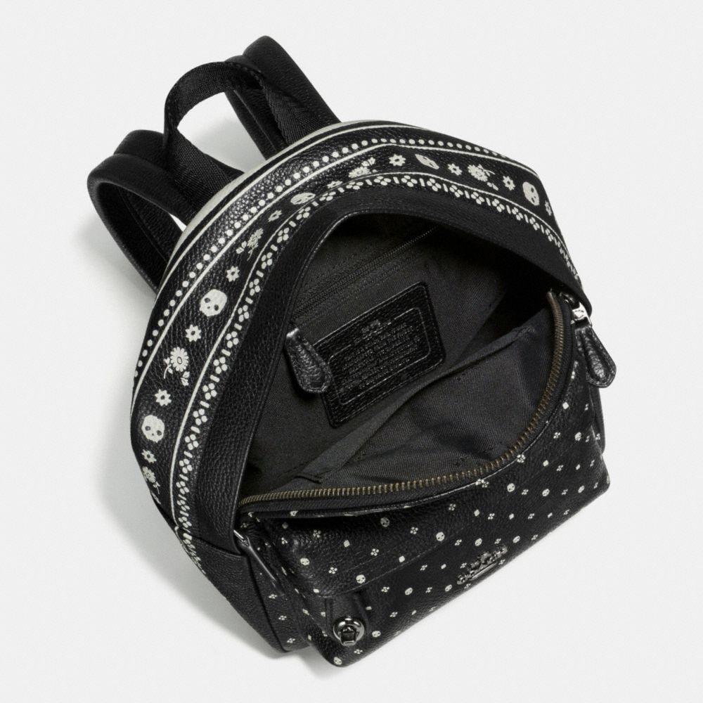 Mini Campus Backpack in Bandana Print Leather - Alternate View A2