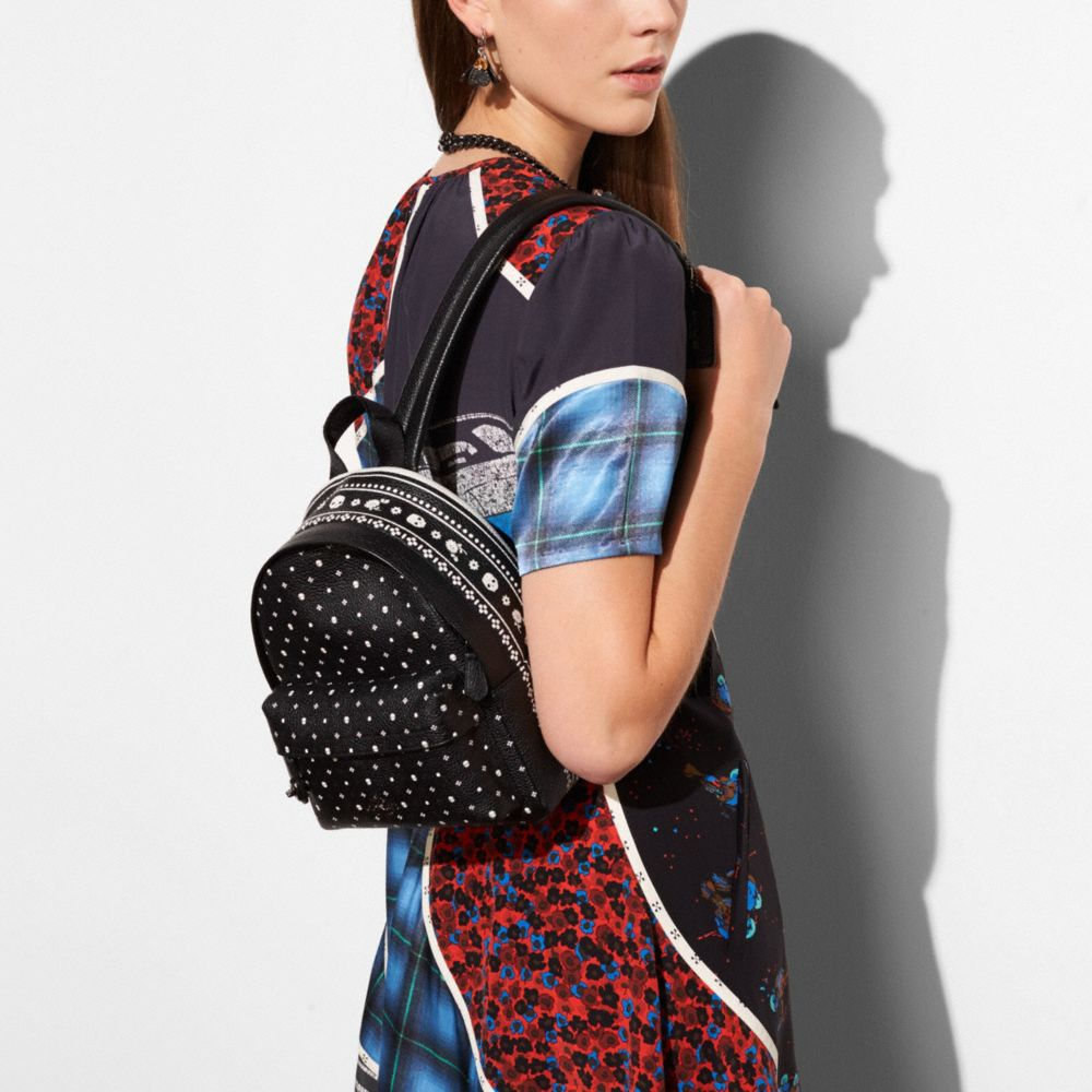 Mini Campus Backpack in Bandana Print Leather - Alternate View A3