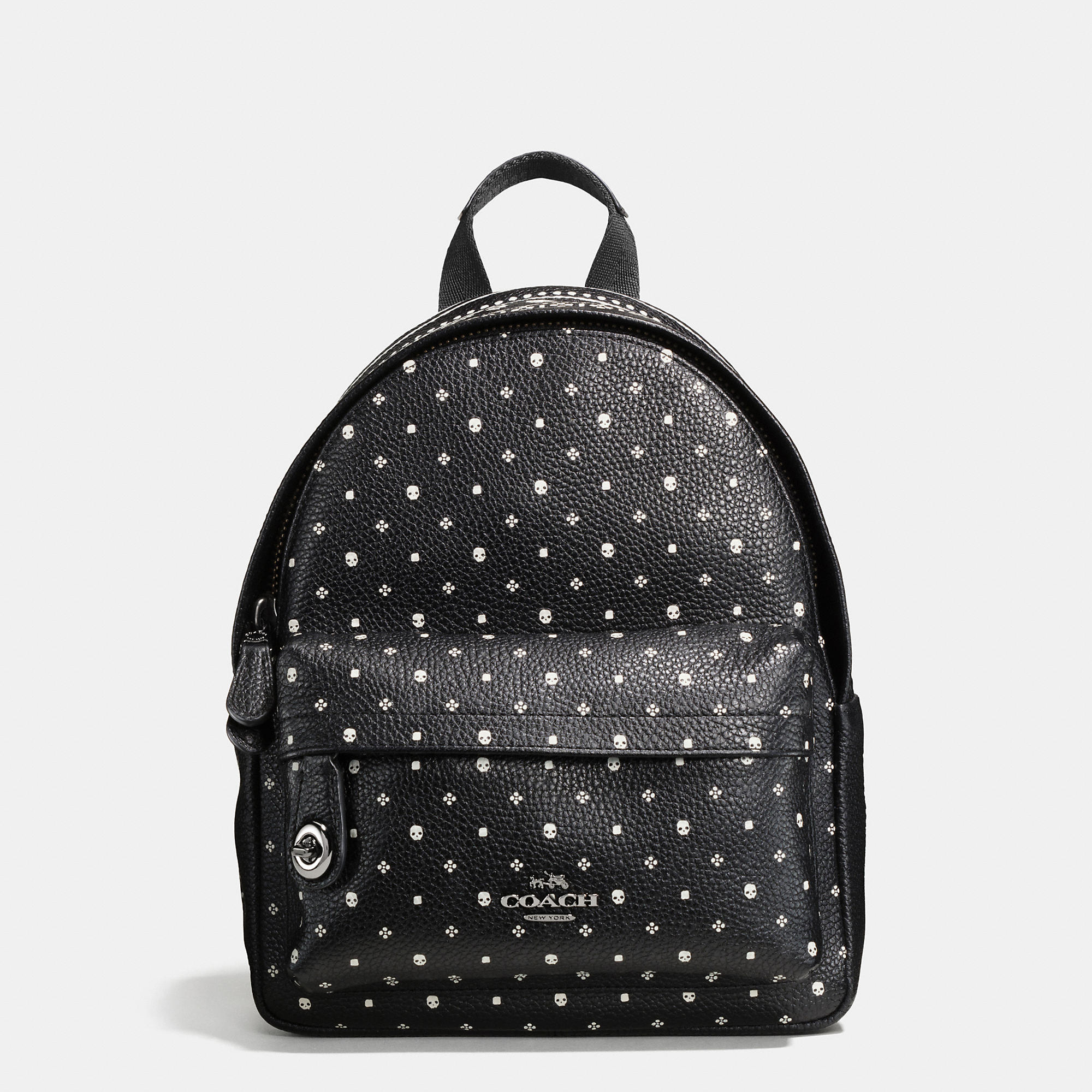 Coach Mini Campus Backpack In Bandana Print Leather